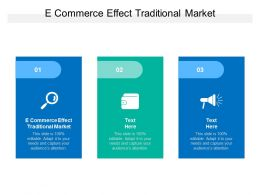 E Commerce Effect Traditional Market Ppt Powerpoint Presentation Summary Cpb