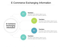 E Commerce Exchanging Information Ppt Powerpoint Presentation Inspiration Background Cpb