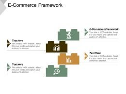 E Commerce Framework Ppt Powerpoint Presentation Gallery Model Cpb