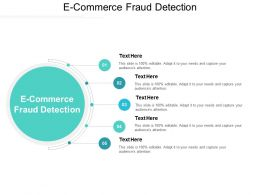 E Commerce Fraud Detection Ppt Powerpoint Presentation Slides Template Cpb