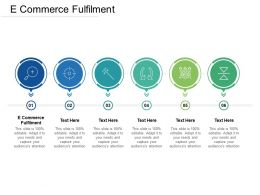 E Commerce Fulfilment Ppt Powerpoint Presentation Infographics Skills Cpb