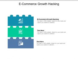 E Commerce Growth Hacking Ppt Powerpoint Presentation Ideas Diagrams Cpb