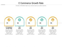 E Commerce Growth Rate Ppt Powerpoint Presentation Summary Background Images Cpb