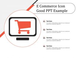 E Commerce Icon Good Ppt Example