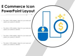 E Commerce Icon Powerpoint Layout