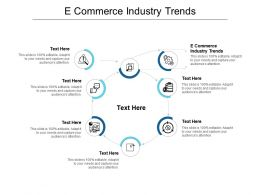 E Commerce Industry Trends Ppt Powerpoint Presentation Summary Vector Cpb