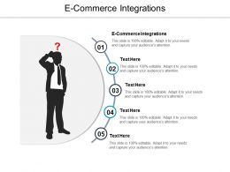 E Commerce Integrations Ppt Powerpoint Presentation File Infographics Cpb