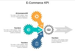 E Commerce KPI Ppt Powerpoint Presentation Icon Visual Aids Cpb