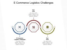 E Commerce Logistics Challenges Ppt Powerpoint Presentation Pictures Mockup Cpb