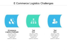 E Commerce Logistics Challenges Ppt Powerpoint Presentation Show Infographic Template Cpb