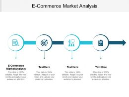 E Commerce Market Analysis Ppt Powerpoint Presentation File Shapes Cpb