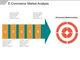 E Commerce Market Analysis Ppt Powerpoint Presentation Inspiration Summary Cpb