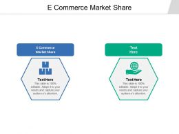 E Commerce Market Share Ppt Powerpoint Presentation Outline Icons Cpb
