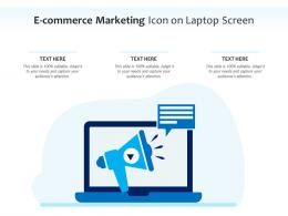 E Commerce Marketing Icon On Laptop Screen