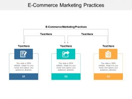 E Commerce Marketing Practices Ppt Powerpoint Presentation Show Designs Download Cpb