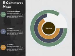 E Commerce Mean Ppt Powerpoint Presentation File Guide Cpb