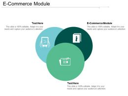 E Commerce Module Ppt Powerpoint Presentation Gallery Guidelines Cpb