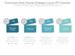 E Commerce Multi Channel Strategies Layout Ppt Example