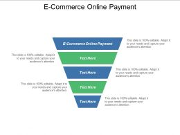 E Commerce Online Payment Ppt Powerpoint Presentation Pictures Elements Cpb