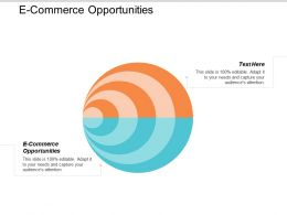 E Commerce Opportunities Ppt Powerpoint Presentation Styles Design Ideas Cpb