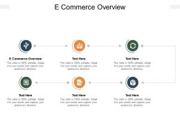 E Commerce Overview Ppt Powerpoint Presentation Infographic Template Clipart Cpb