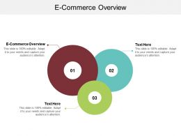 E Commerce Overview Ppt Powerpoint Presentation Professional Show Cpb