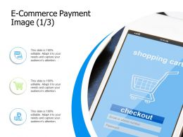 E Commerce Payment Image Currency Ppt Powerpoint Presentation Diagram Templates