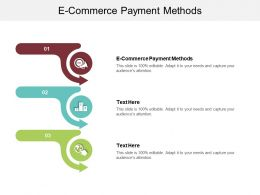 E Commerce Payment Methods Ppt Powerpoint Presentation Show Infographic Template Cpb