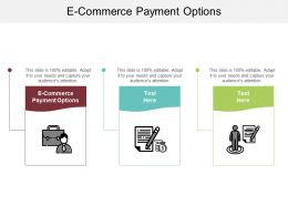 E Commerce Payment Options Ppt Powerpoint Presentation Inspiration Picture Cpb