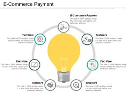 E Commerce Payment Ppt Powerpoint Presentation Outline Tips Cpb
