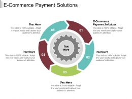 E Commerce Payment Solutions Ppt Powerpoint Presentation Infographic Template Designs Cpb