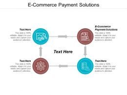 E Commerce Payment Solutions Ppt Powerpoint Presentation Portfolio Backgrounds Cpb