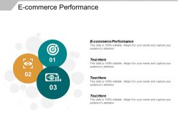 E Commerce Performance Ppt Powerpoint Presentation Inspiration Visual Aids Cpb