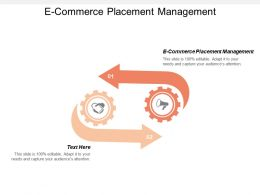 E Commerce Placement Management Ppt Powerpoint Presentation Gallery Deck Cpb