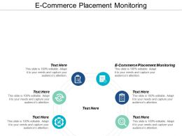 E Commerce Placement Monitoring Ppt Powerpoint Presentation Icon Slide Cpb