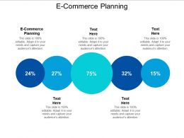 E Commerce Planning Ppt Powerpoint Presentation Ideas Visual Aids Cpb