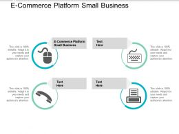 E Commerce Platform Small Business Ppt Powerpoint Presentation Summary Good Cpb