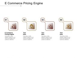 E Commerce Pricing Engine Ppt Powerpoint Presentation Icon Design Templates Cpb
