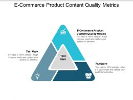 E Commerce Product Content Quality Metrics Ppt Powerpoint Presentation Ideas Information Cpb