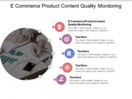 E Commerce Product Content Quality Monitoring Ppt Powerpoint Introduction Cpb