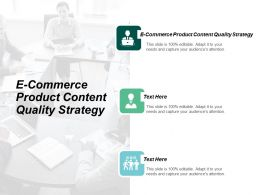 E Commerce Product Content Quality Strategy Ppt Powerpoint Presentation Infographic Template Show Cpb