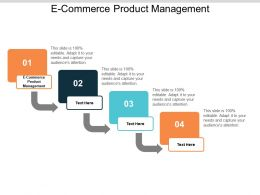 E Commerce Product Management Ppt Powerpoint Presentation Infographic Template Cpb
