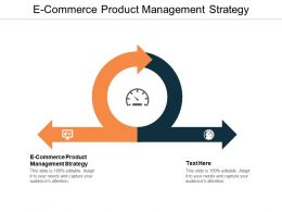 E Commerce Product Management Strategy Ppt Powerpoint Presentation File Slides Cpb