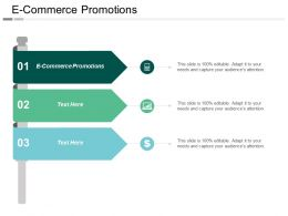 E Commerce Promotions Ppt Powerpoint Presentation Gallery Graphic Images Cpb