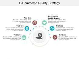 E Commerce Quality Strategy Ppt Powerpoint Presentation Gallery Skills Cpb