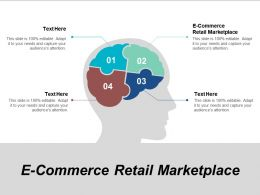 E Commerce Retail Marketplace Ppt Powerpoint Presentation Outline Information Cpb