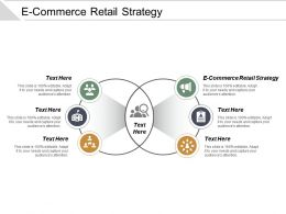E Commerce Retail Strategy Ppt Powerpoint Presentation Icon Deck Cpb