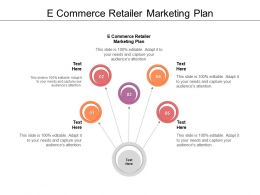 E Commerce Retailer Marketing Plan Ppt Powerpoint Presentation Deck Cpb