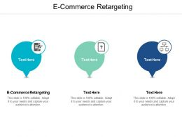 E Commerce Retargeting Ppt Powerpoint Presentation Gallery Model Cpb