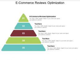 E Commerce Reviews Optimization Ppt Powerpoint Presentation Slides Graphics Tutorials Cpb
